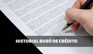 Historial de buró de crédito