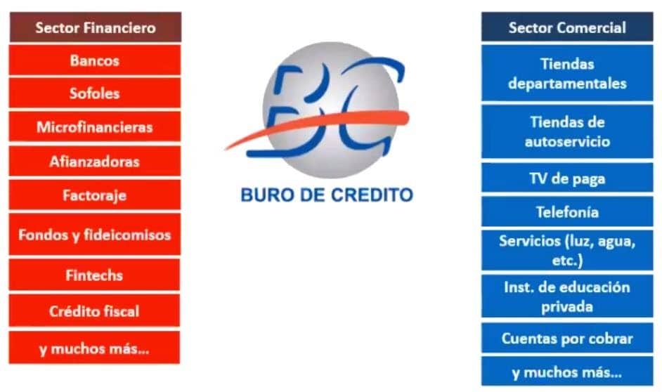 Empresas que consultan el buró de crédito y que actualizan al menos una vez al mes los datos de sus clientes.